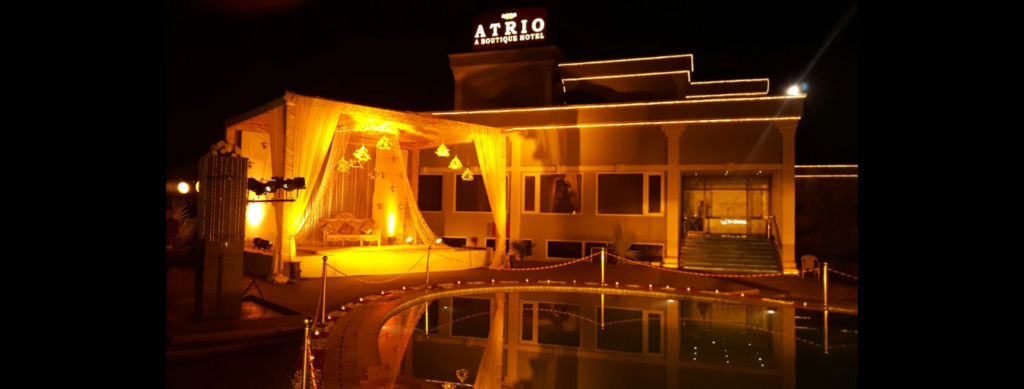 Atrio Hotel, A Boutique Hotel – Wedding Venue in Kapashera, Delhi